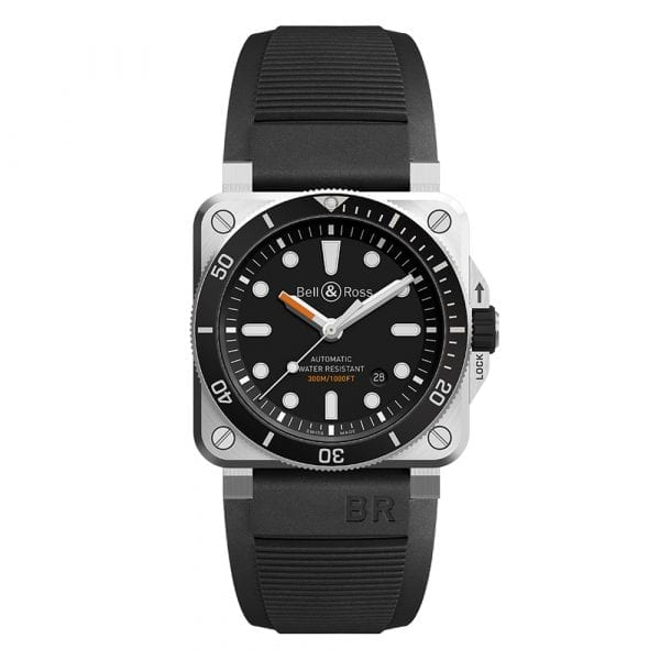 Bell and Ross BR0392-D-BL-ST/SRB