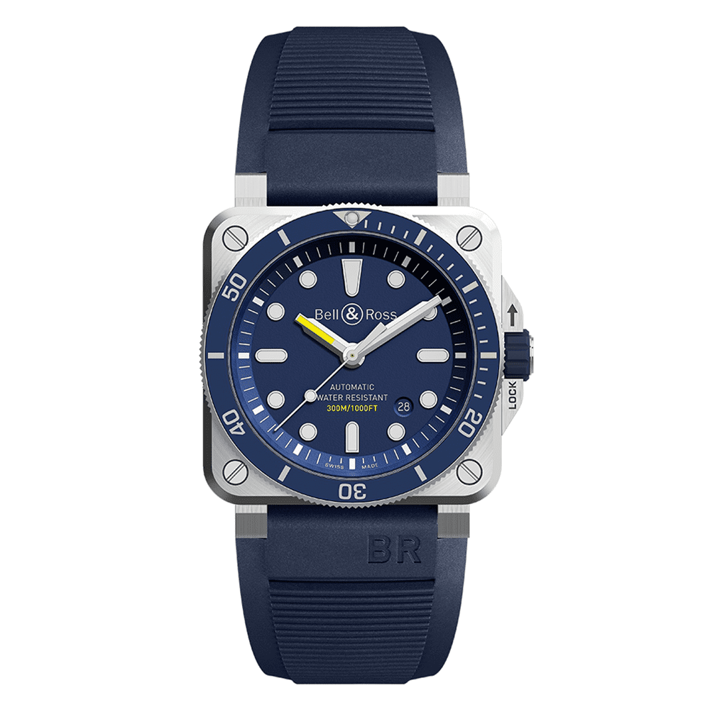 Bell and Ross BR0392-D-BU-ST/SRB