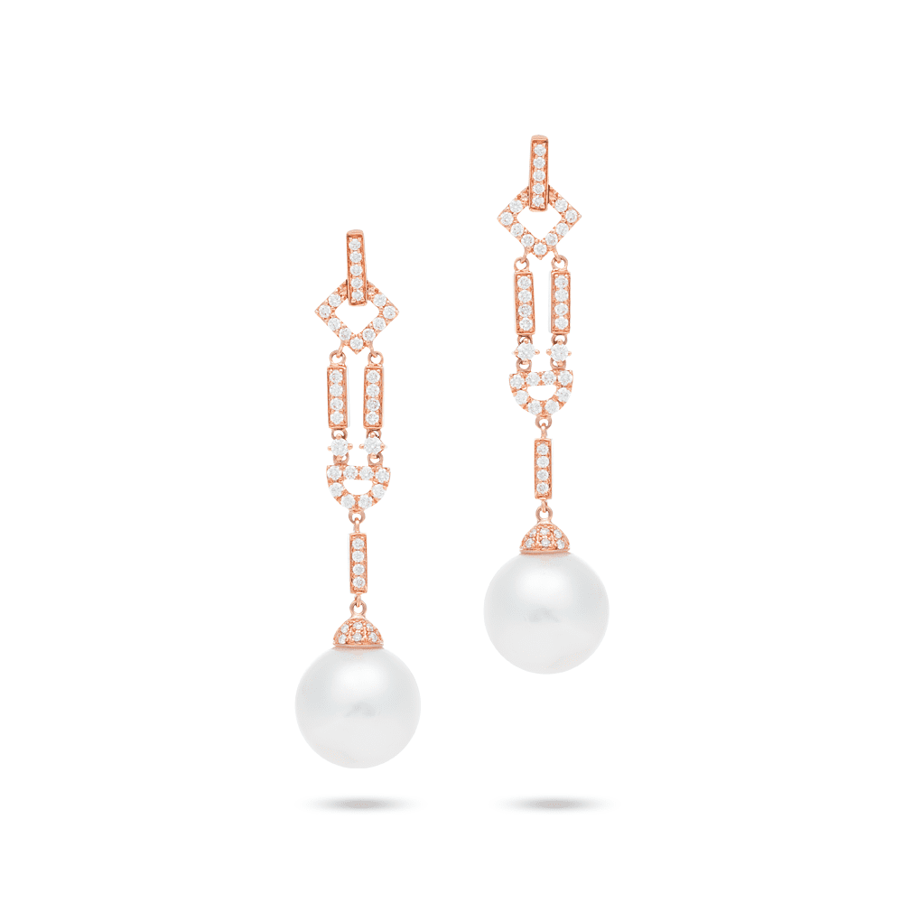 King Jewelers Learn more about these round diamond drop earrings in rose gold at King Jewelers. Always free shipping on your King Jewelers jewelry order.