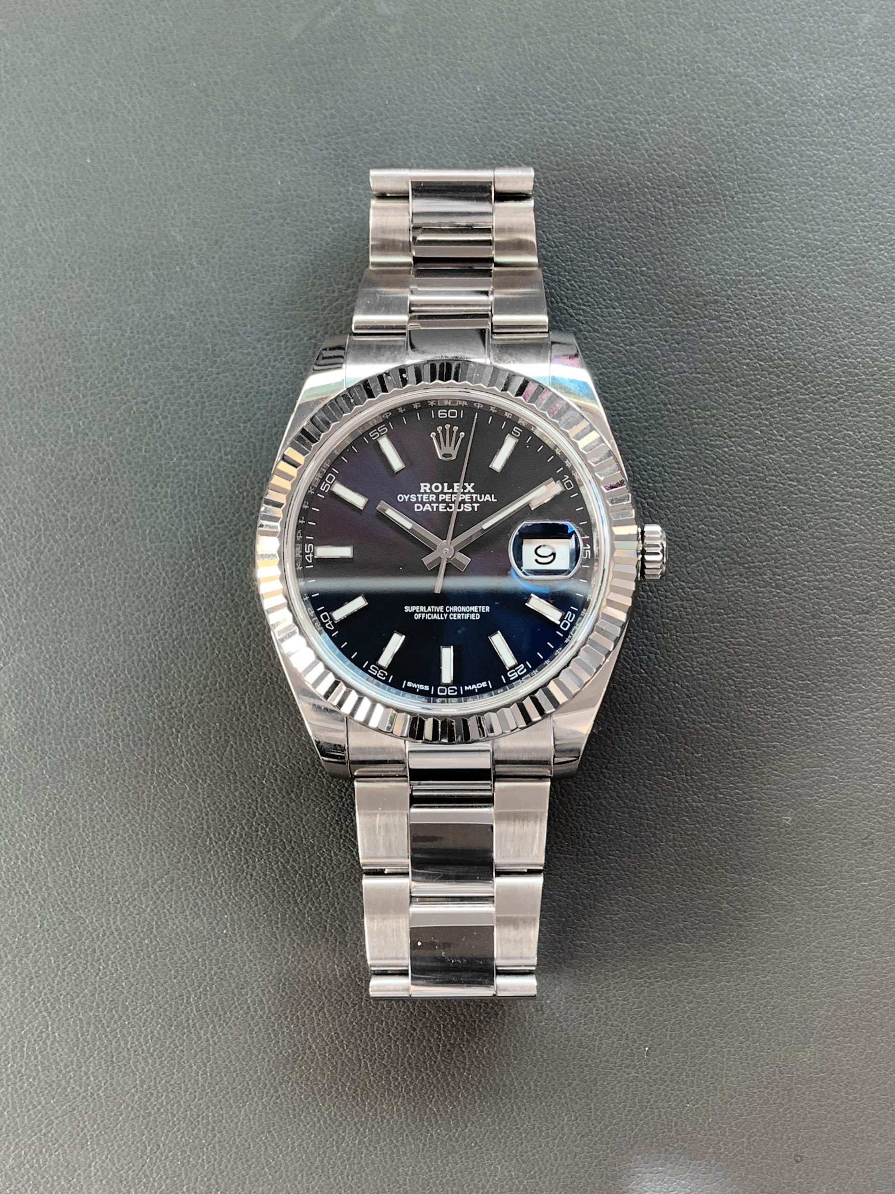 Used Rolex Datejust 41 Blue Dial Rolesor 126334
