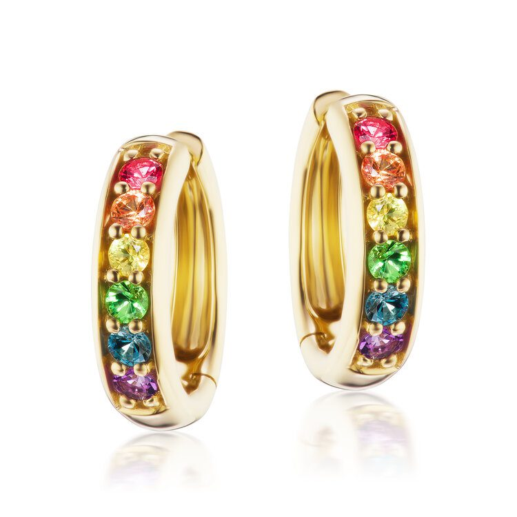 Jane Taylor Rainbow Huggie Hoops