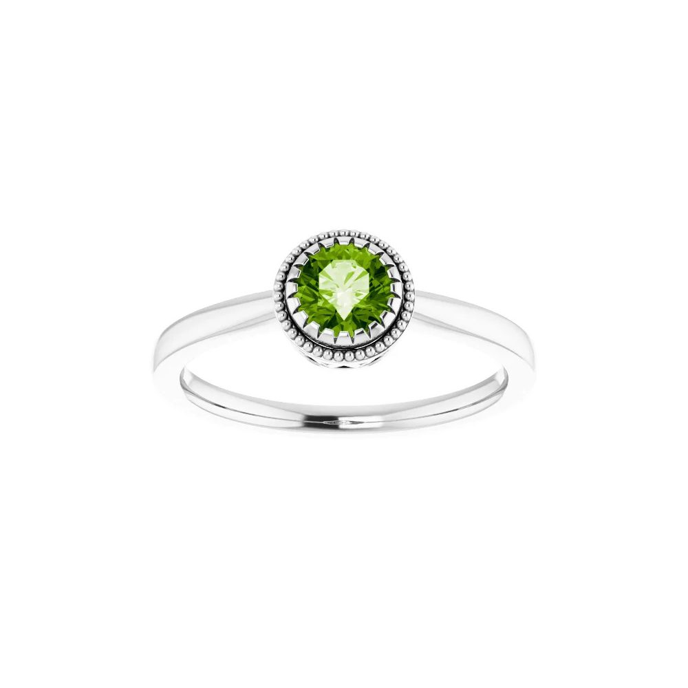 King Jewelers Bezel Set August Birthstone Ring