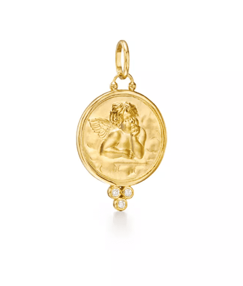 Temple St. Clair Angel Pendant Easter Jewelry