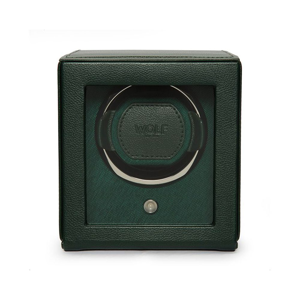 Wolf Cub Single Watch Winder With Cover Green